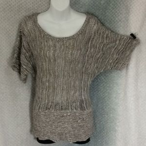 A Knitch Above open-knit color stripe top S